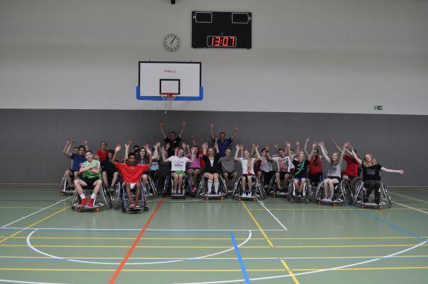 9d Projekttag Rollstuhlsport